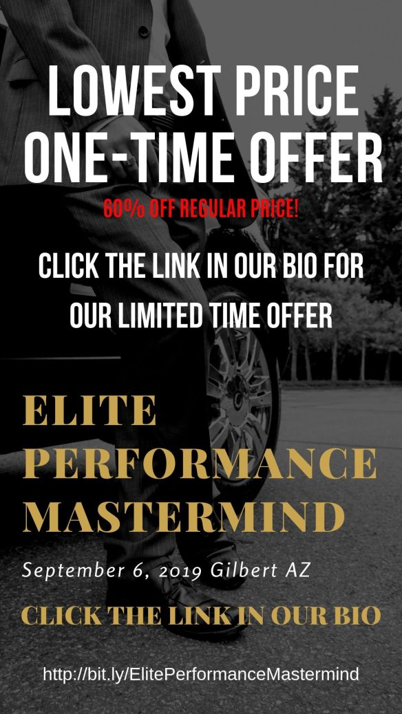 Limited Time Offer Sale Price for Elite Performance Mastermind Group